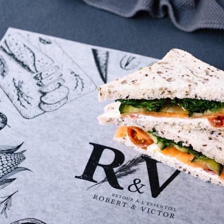 Smoked Salmon Gluten-Free Sandwich