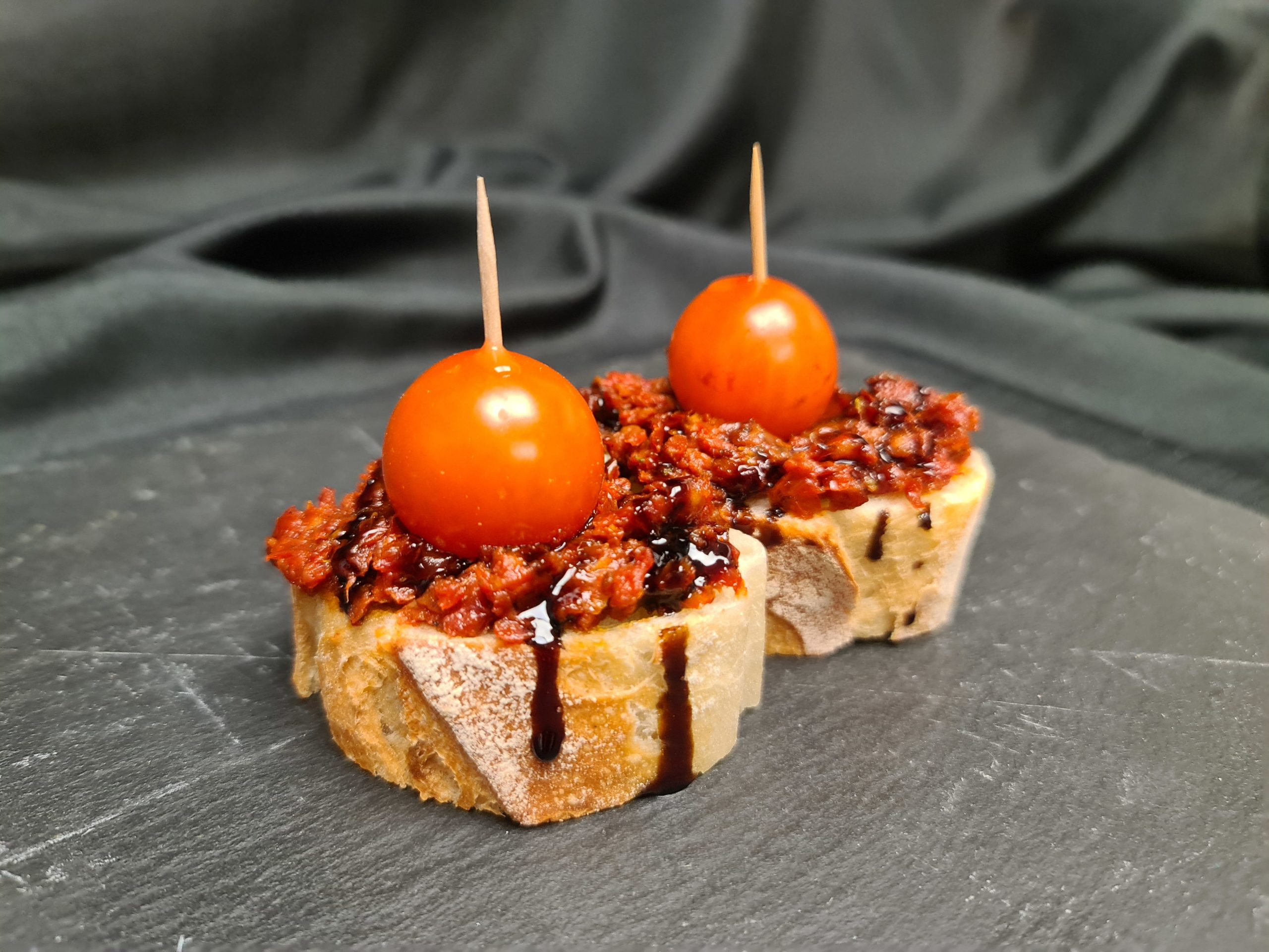 Red tapenade for business lunch